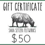 Gift Certificate -  Emailed Gift Certificate - Digital Gift Card - Printable Gift Certificate - Unique Christmas Gift - Holiday Gift for Her